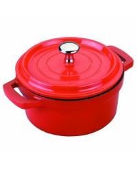 Cacerola Roja Aluminio Fundido D.16 Cms  - Lacor 25916