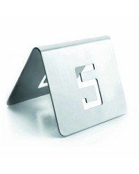 Numeros De Mesa 6X5 Cm. 13-24 Inoxidable - Lacor 61096