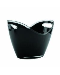 Cubo Enfriabotellas Negro 2 Asas  - Lacor 62367