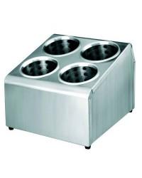 Soporte Cubiertos 6 Orificios Con Vasos  - Lacor 33126