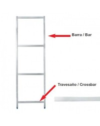Barra Soporte Lateral 250 Mm  - Lacor 56502
