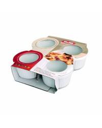 Caja de 3 uds de Set 4 Molde Ramequin 9 Cms., Ceramica Ibili 230010