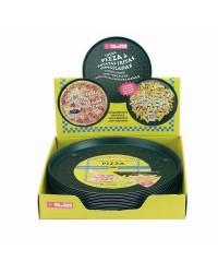 Caja de 6 uds de Molde Pizza Crispy Venus 28 Cms. Aluminio Ibili 356128