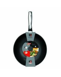 Caja de 6 uds de Wok Induplus Aluminio Fundido 28 Cms, Valido Para Todas Las Cocinas Ibili 400528