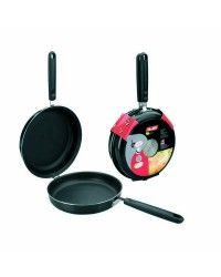 Caja de 4 uds de Sarten Doble Para Tortillas Aluminio Indubasic 24 Cms, Valida Para Todas Las Cocinas Ibili 405924