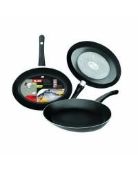 Caja de 6 uds de Sarten Pescado Aluminio Indubasic 35X24X4,50 Cms, Valida Para Todas Las Cocinas Ibili 406035