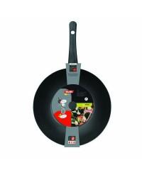 Caja de 6 uds de Wok Aluminio Indubasic 30 Cm, Valida Para Todas Las Cocinas Ibili 406130