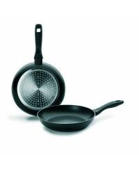 Lote 2 Sartenes Aluminio Chef Style 20+24 Cm, Mango Silicona, Valida Para Todas Las Cocinas Ibili 407200