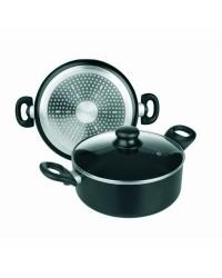 Cacerola Aluminio Inducta Con Tapa 16 Cms, Valida Para Todas Las Cocinas Ibili 410816