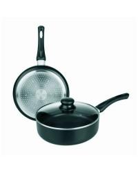 Sarten Guisera Aluminio Inducta Con Tapa 24 Cms, Valida Para Todas Las Cocinas Ibili 411124