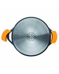 Guisera Con Tapa Aluminio Fundido Evolution 40 Cm, Fondo Especial Induccion, Asas De Silicona Ibili 461040