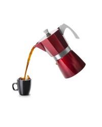 Cafetera Express Base Aluminio Fundido Evva Red 6 Tazas, Especial Induccion Ibili 623206