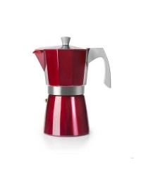Cafetera Express Base Aluminio Fundido Evva Red 9 Tazas, Especial Induccion Ibili 623209