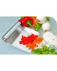 Pala Recoge Verduras  Acero Inoxidable 24X15 Cms. Ibili 722224