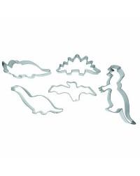 Caja de 6 uds de Set 5 Cortapastas Dinosaurios Estañados Ibili 723600