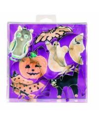 Caja de 6 uds de Set 7 Cortapastas Halloween Estañados Ibili 723700