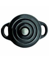 Mini Cocotte Hierro Fundido Oval Negra 15X10X6 Cm, Especial Induccion Ibili 726015N