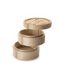 Caja de 6 uds de Vaporera Bamboo 10 Cm Ibili 727510