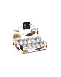 Caja de 12 uds de Tarro Mini Redondo 6X45+6X65 Ml Ibili 740000