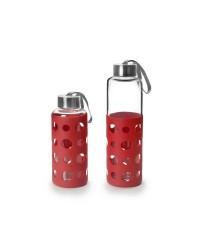 Caja de 3 uds de Botella De Vidrio Lake 400 Ml Rojo Ibili 746004R