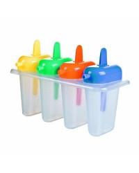 Caja de 6 uds de Moldes Para 4 Helados Plastico, Con Receta Ibili 783400