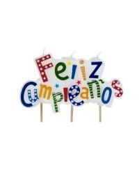 "Caja de 12 uds de Vela ""Feliz Cumpleaños"" Ibili 786216"