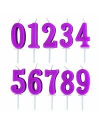 Caja de 12 uds de Velas Numero 0 Ibili 786300