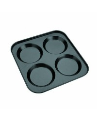 Caja de  uds de Molde 4 Cavidades Yorkshire Chapa De Acero Con Antiadherente 24X24 Cm Ibili 825704