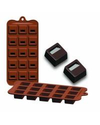 Caja de 6 uds de Moldes Silicona Bombon - Bloque,  11X21X2,5 Cm Ibili 860302