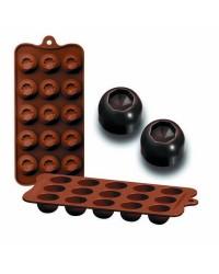 Caja de 6 uds de Moldes Silicona Bombon - Diam, 11X21X2,5 Cm Ibili 860303