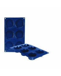 Caja de 6 uds de Molde Muffin 6 Cavidades Silicona, 8X4 Cm Ibili 870012