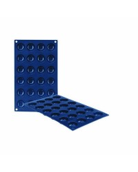 Caja de 6 uds de Molde Mombon 24 Cavidades Silicona, 3,5X1,6 Cm Ibili 870018