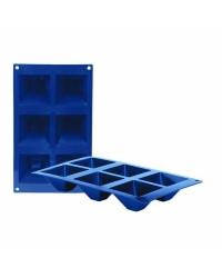 Caja de 6 uds de Molde 6 Cavidades Piramides Silicona, 7,1X7,1 Cm Ibili 870034
