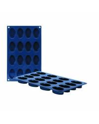 Caja de 6 uds de Molde 16 Cavidades Ovales Silicona, 5,3X3,3 Cm Ibili 870035