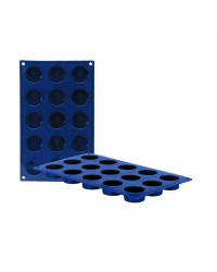 Caja de 6 uds de Molde 15 Cavidades Petit Four Silicona, 4X2 Cm Ibili 870037