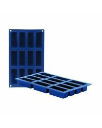 Caja de 6 uds de Molde 12 Cavidades Cakes Silicona , 8X3 Cm Ibili 870039
