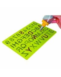 Caja de 6 uds de Molde Chocolate Silicona Letras Y Numeros, 16X24 Cm Ibili 871300