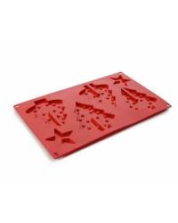 Caja de 6 uds de Molde Galletas Arbol Silicona, 30 Cm Ibili 872600