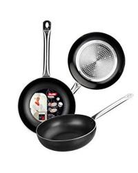 Caja de 6 uds de Sarten Honda Aluminio I-Chef 24 Cm, Valida Para Todas Las Cocinas Ibili 403124