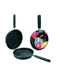 Caja de 4 uds de Sarten Doble Para Tortillas Aluminio Indubasic 20 Cms, Valida Para Todas Las Cocinas Ibili 405920