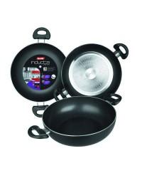 Caja de 6 uds de Sarten Honda Aluminio Con 2 Asas Inducta 32 Cms, Valida Para Todas Las Cocinas Ibili 410532