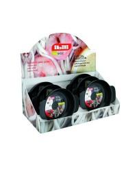 Caja de 6 uds de Tartera Aluminio Indubasic 24 Cms, Valida Para Todas Las Cocinas Ibili 405324