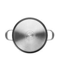 Guisera Aluminio Fundido Con Tapa Titan 36 Cm, Fondo Especial Induccion, Asas Inox Remachadas Ibili 465436