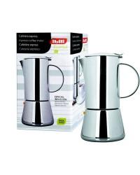 Cafetera Express Essential Acero Inoxidable 4 Tazas, Valida Para Todas Las Cocinas Ibili 620304