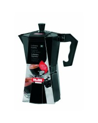 Cafetera Express Aluminio Bahia Black 6 Taza, Valida Para Cocinas A Gas, Electricas Y Vitroceramicas Ibili 612206