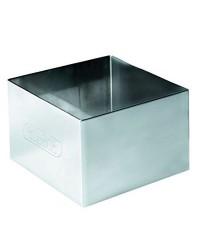 Caja de 6 uds de Aro Emplatar Cuadrado  Acero Inoxidable 4X4X4,50 Cms. Ibili 716904
