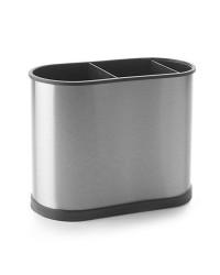 Caja de 4 uds de Portautensilios Rectangular Acero Inoxidable + Plastico 22X18 Cm Ibili 797250