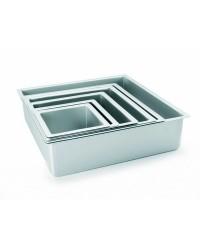 Caja de 6 uds de Molde Cuadrado Recto Extra Alto Aluminio Anodizado 30X10 Ibili 815230