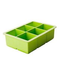 Caja de 6 uds de Molde Hielo Cuadrado Silicona, 16X11X5 Cm Ibili 870650