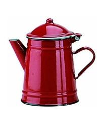 Caja de 6 uds de Cafetera Conica Roja Acero Esmaltado 1 Lts. Ibili 910210